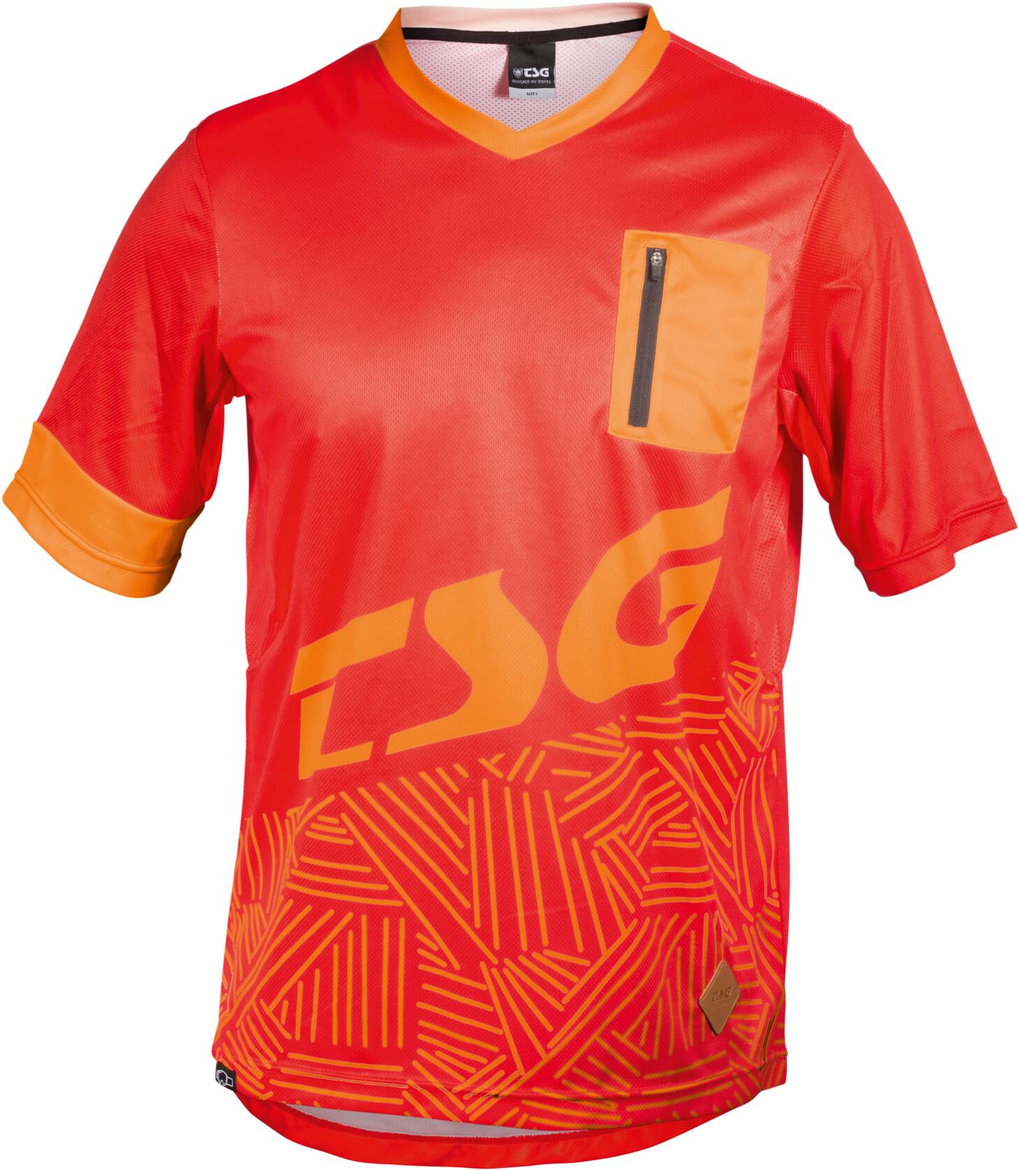 TSG SP3 Cykeltrøje Herrer, red-acid orange | Trøjer