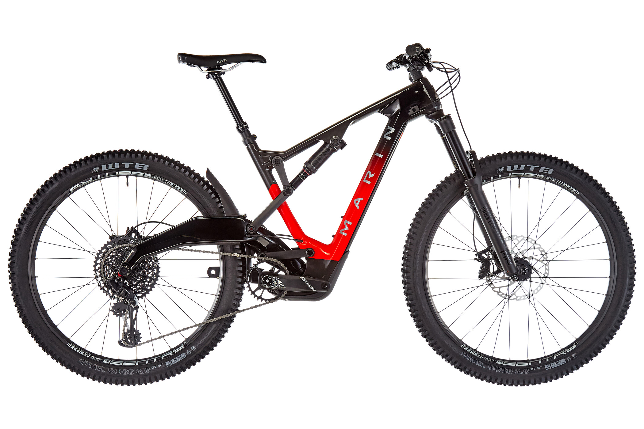 Marin Mount Vision 8 S, gloss carbon/red fade/charcoal decals (2020)   MTB