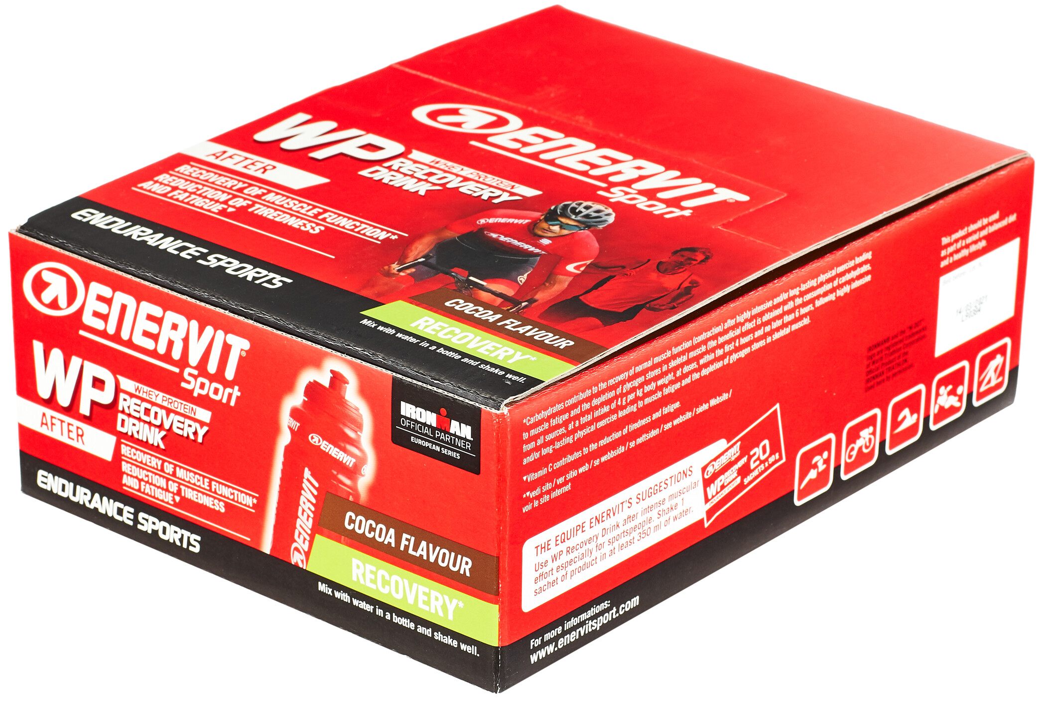 Enervit Sport Recovery Drink Box 20x50g, Universal (2019)   Protein bar and powder