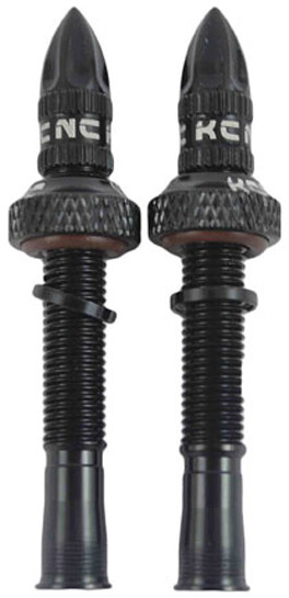 KCNC Aluminum Tubeless ventilsæt 65mm, black   Valve