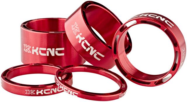 """KCNC 1-1//8/"""" Hollow Spacer 2 3 5 8 10 12 14 20mm Red"""