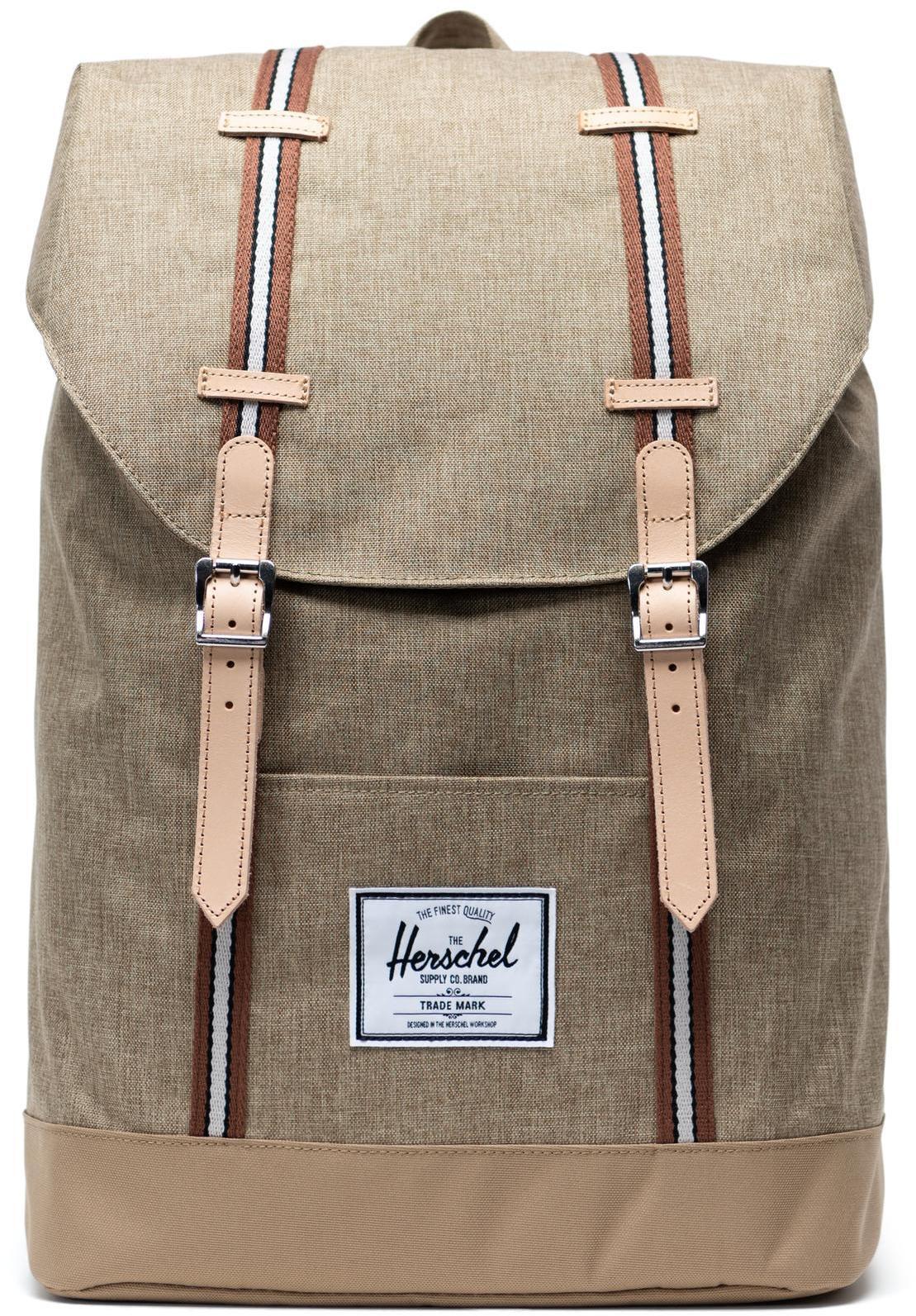 Herschel Retreat Offset Collection Backpack 19,5l, kelp crosshatch/kelp (2019)   Rygsæk og rejsetasker