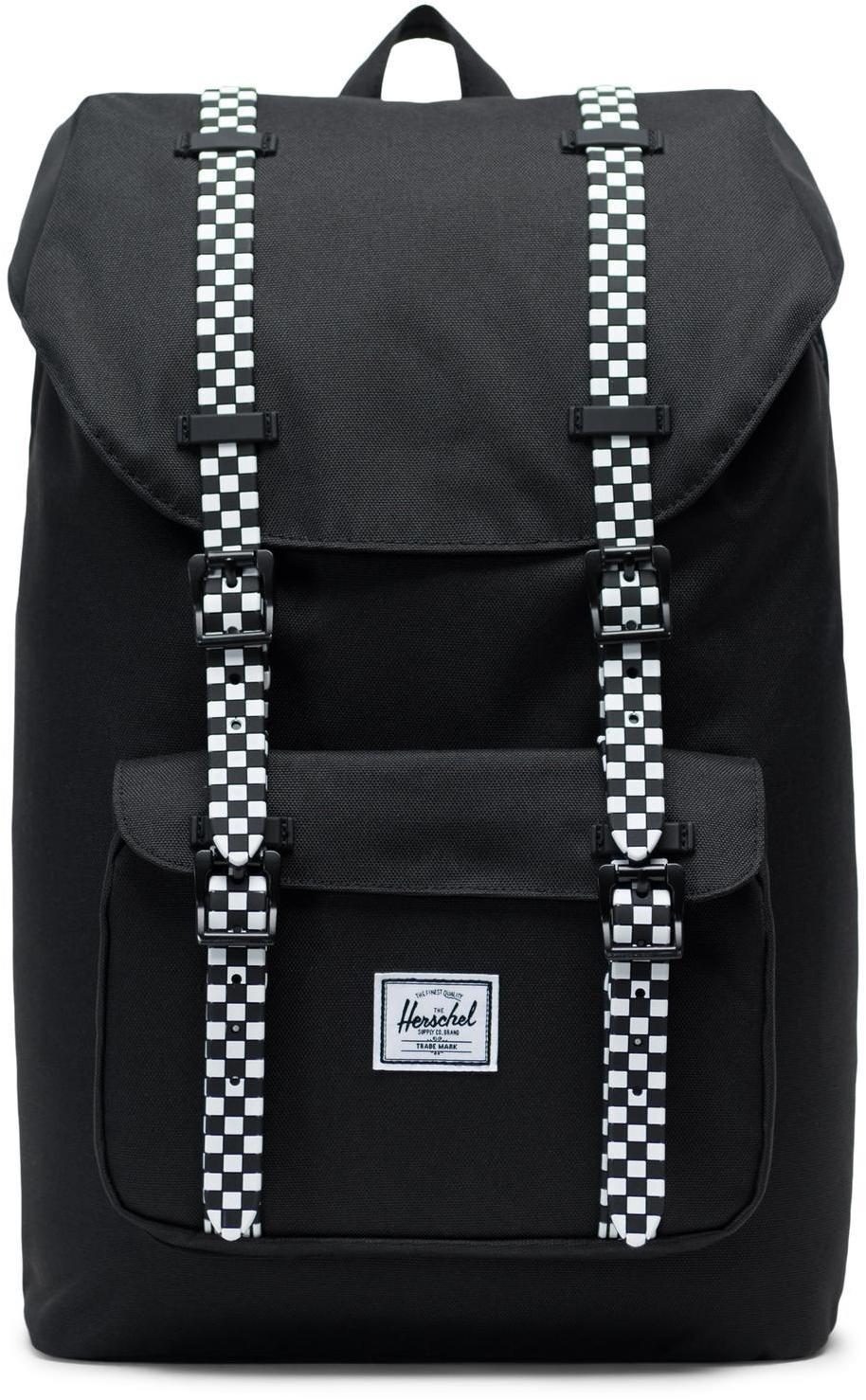 Herschel Little America Mid-Volume Backpack 17L, black/checkerboard (2019)   Rygsæk og rejsetasker