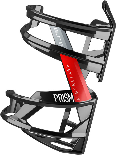 Prism right carbon bottle cage black with white graphics Elite bicycle