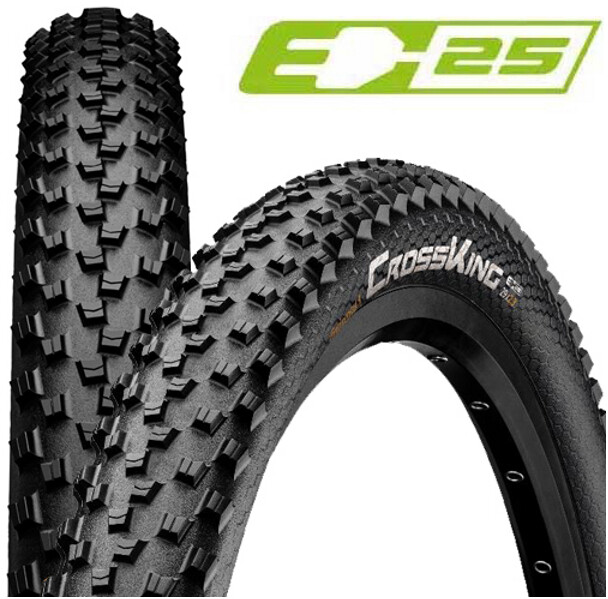 """Continental Cross King Performance Clincher Tire 26x2.2"""" E-25, black (2019) 