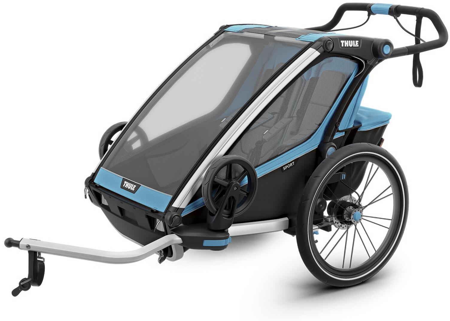 Thule Chariot Sport 2 Bike Trailer, thule blue/black (2019) | Trailer til cykler