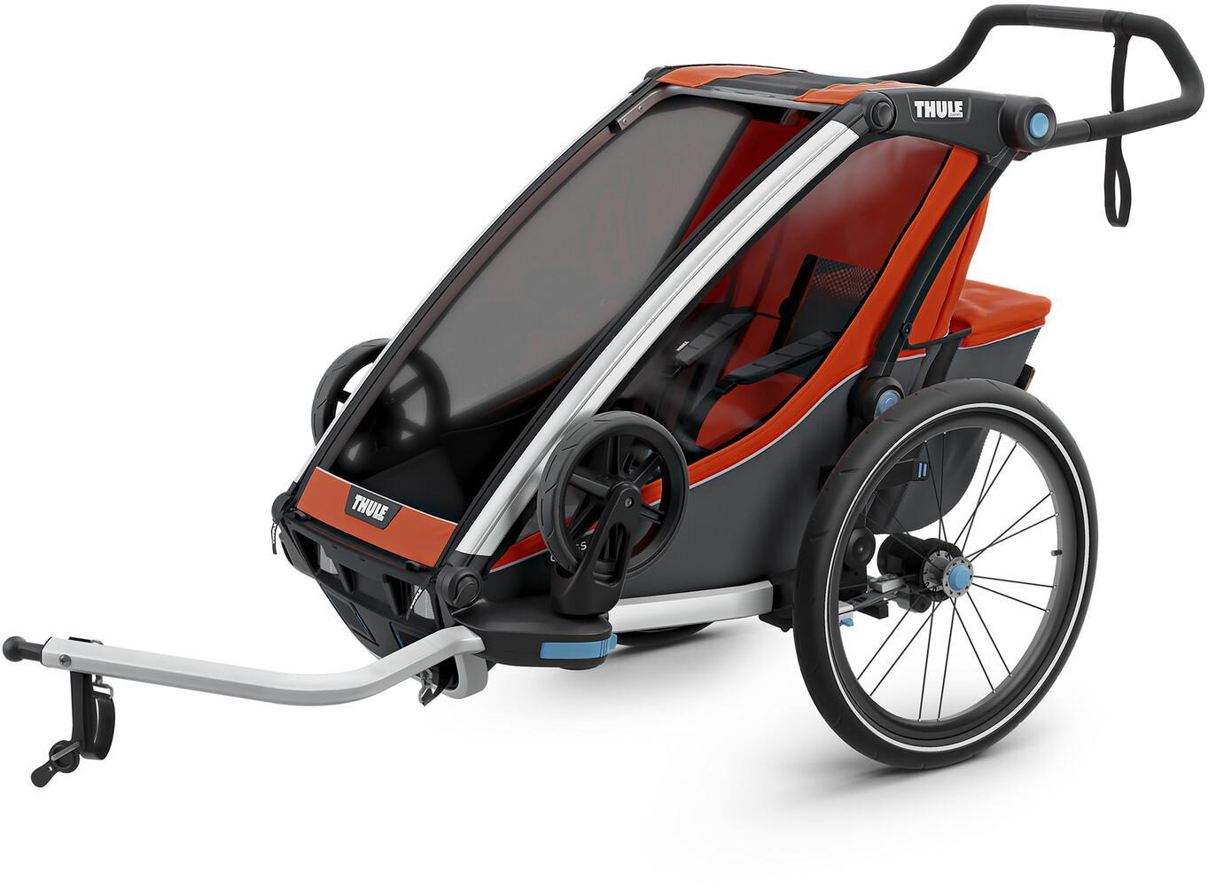 Thule Chariot Cross 1 Cykelanhænger, roarange/dark shadow | Trailer til cykler
