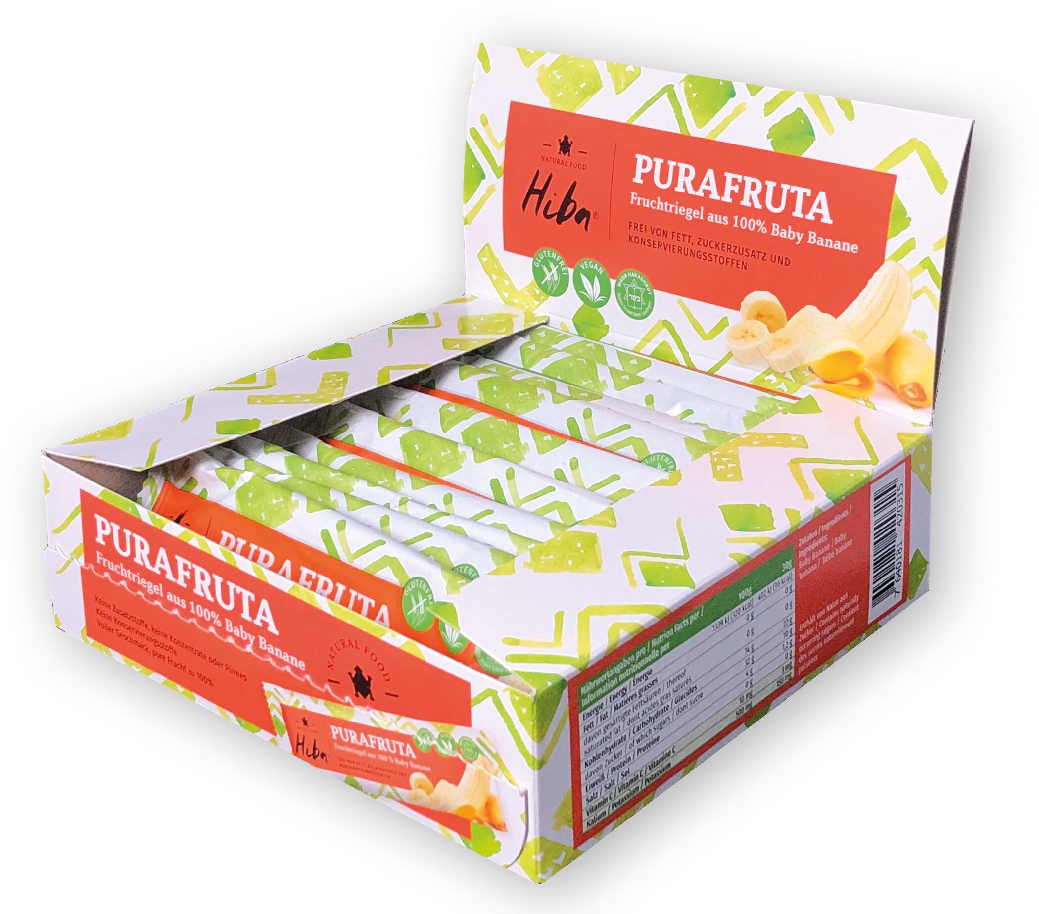 Hiba Purafruta Energy Bar Box 12x30g, Baby Banana (2019) | Energy bar