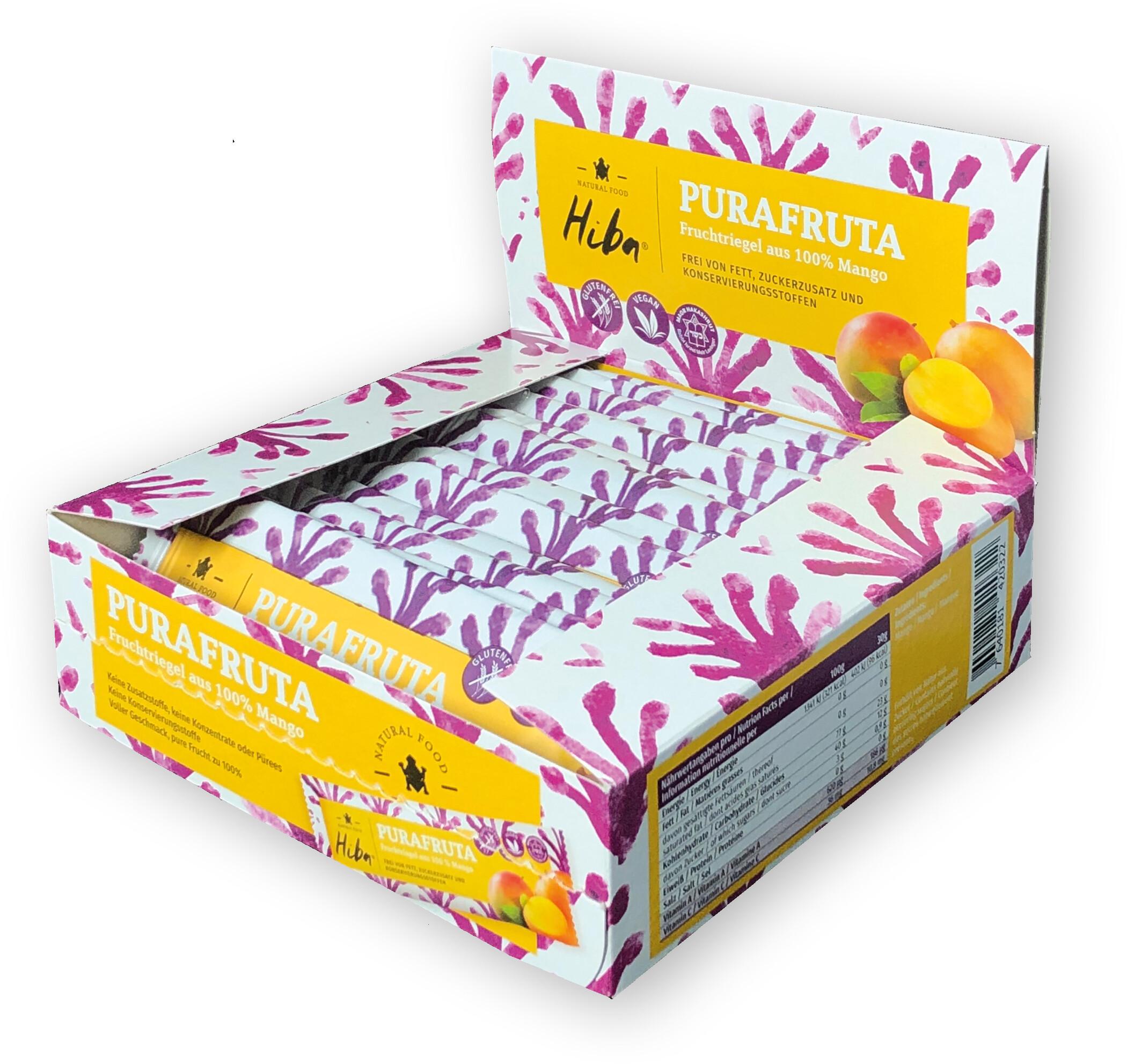 Hiba Purafruta Energy Bar Box 12x30g, Mango (2019) | Energy bar