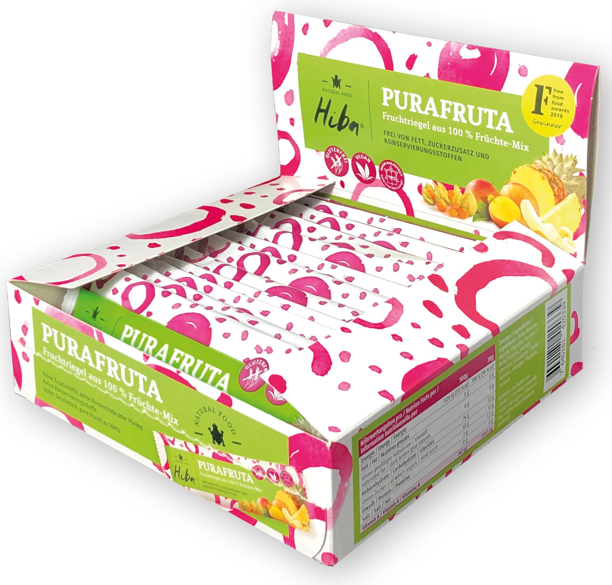 Hiba Purafruta Energy Bar Box 12x30g, Fruit Mix (2019) | Energy bar