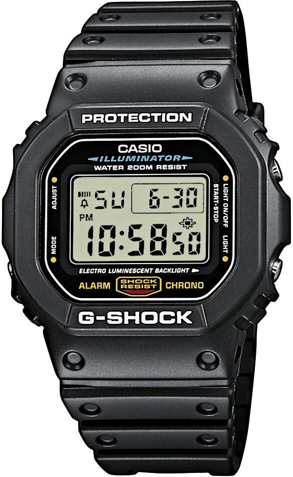 CASIO G-SHOCK DW-5600E-1VER Ur Herrer, black (2019)   Sports watches