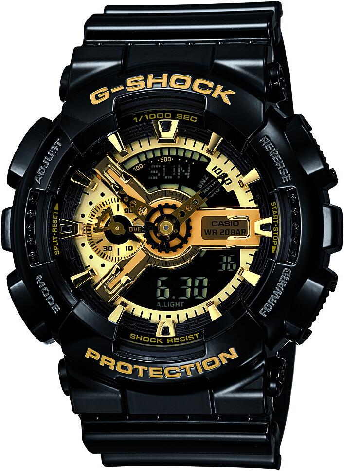 CASIO G-SHOCK GA-110GB-1AER Ur Herrer, black/black/gold (2019)   Sports watches