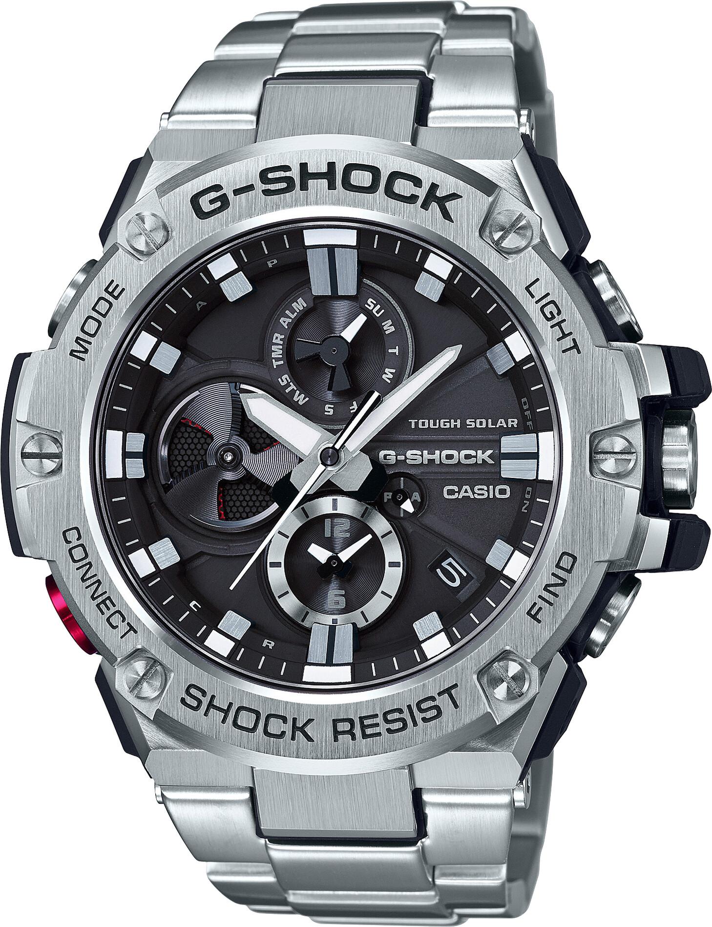 CASIO G-SHOCK GST-B100D-1AER Watch Men, silver/white silver/white black   Sports watches