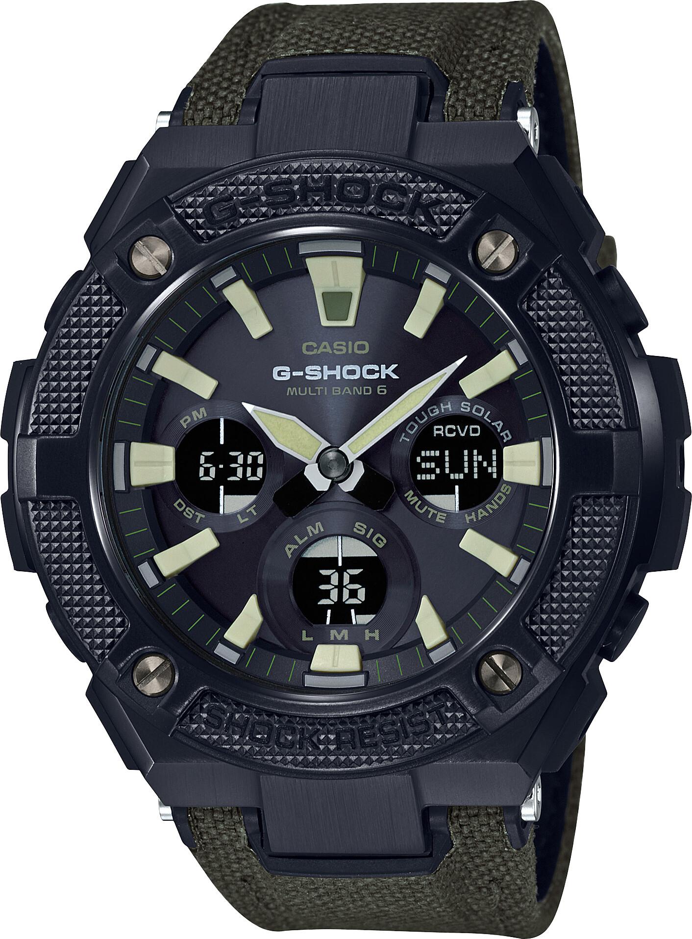 CASIO G-SHOCK GST-W130BC-1A3ER Watch Men, green black/grey chrom   Sports watches