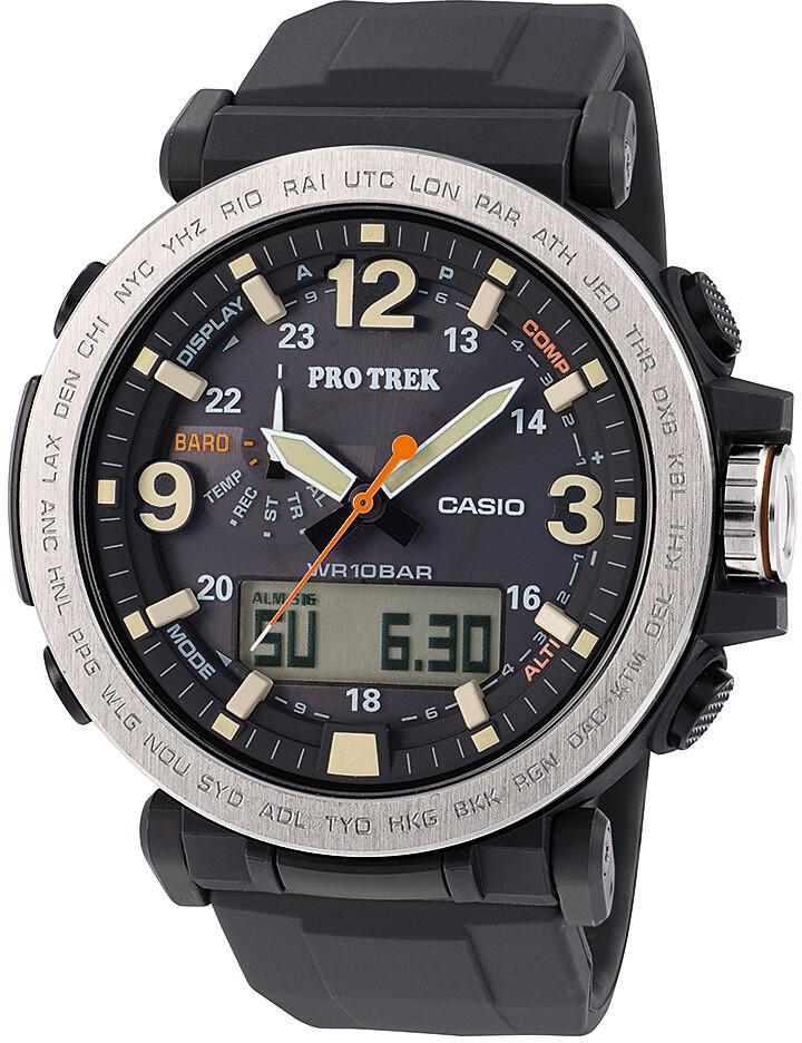 CASIO PRO TREK PRG-600-1ER Ur Herrer, black silver/white/black (2019) | Sports watches