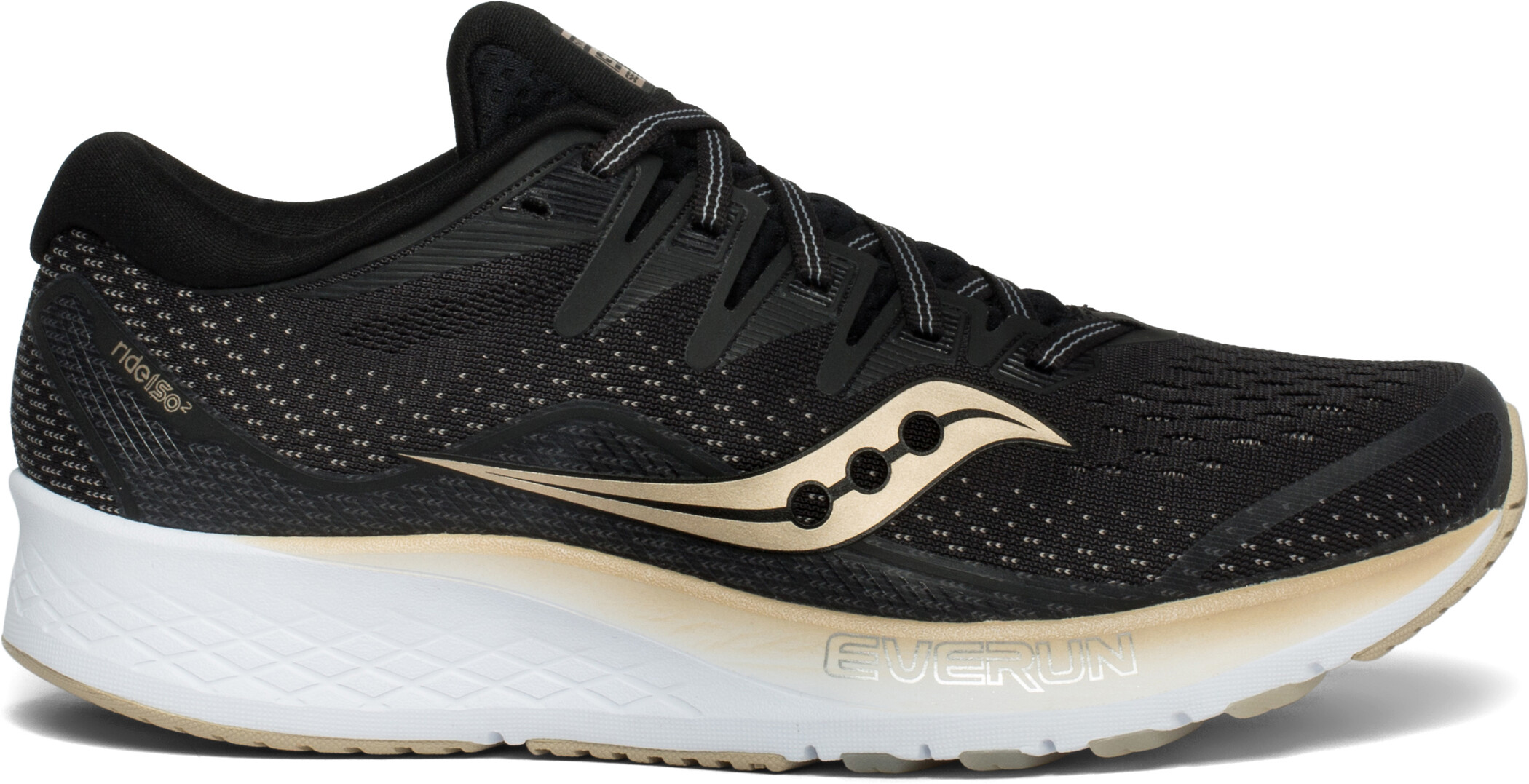 saucony Ride ISO 2 Sko Damer, black/gold (2019) | Shoes and overlays