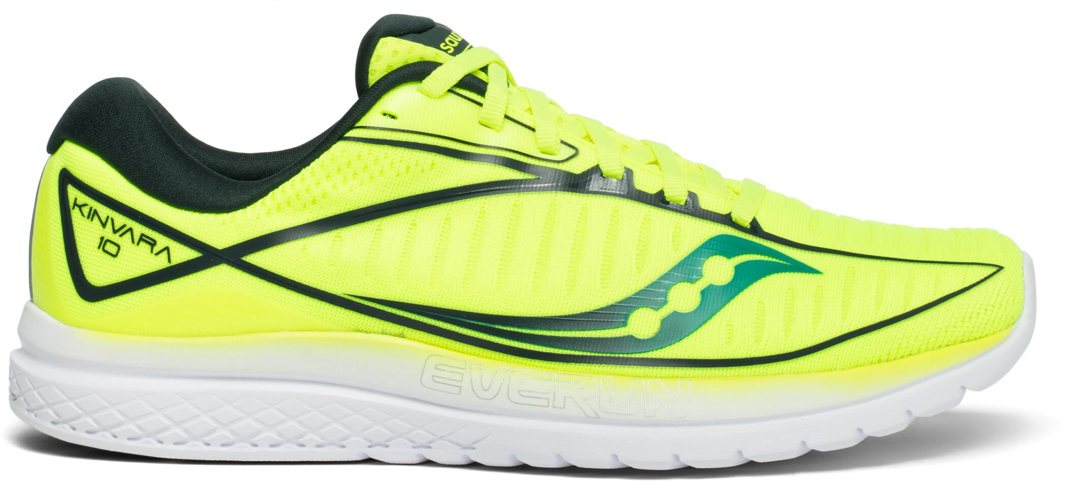 saucony Kinvara 10 Shoes Men, citron/teal (2019) | Running shoes