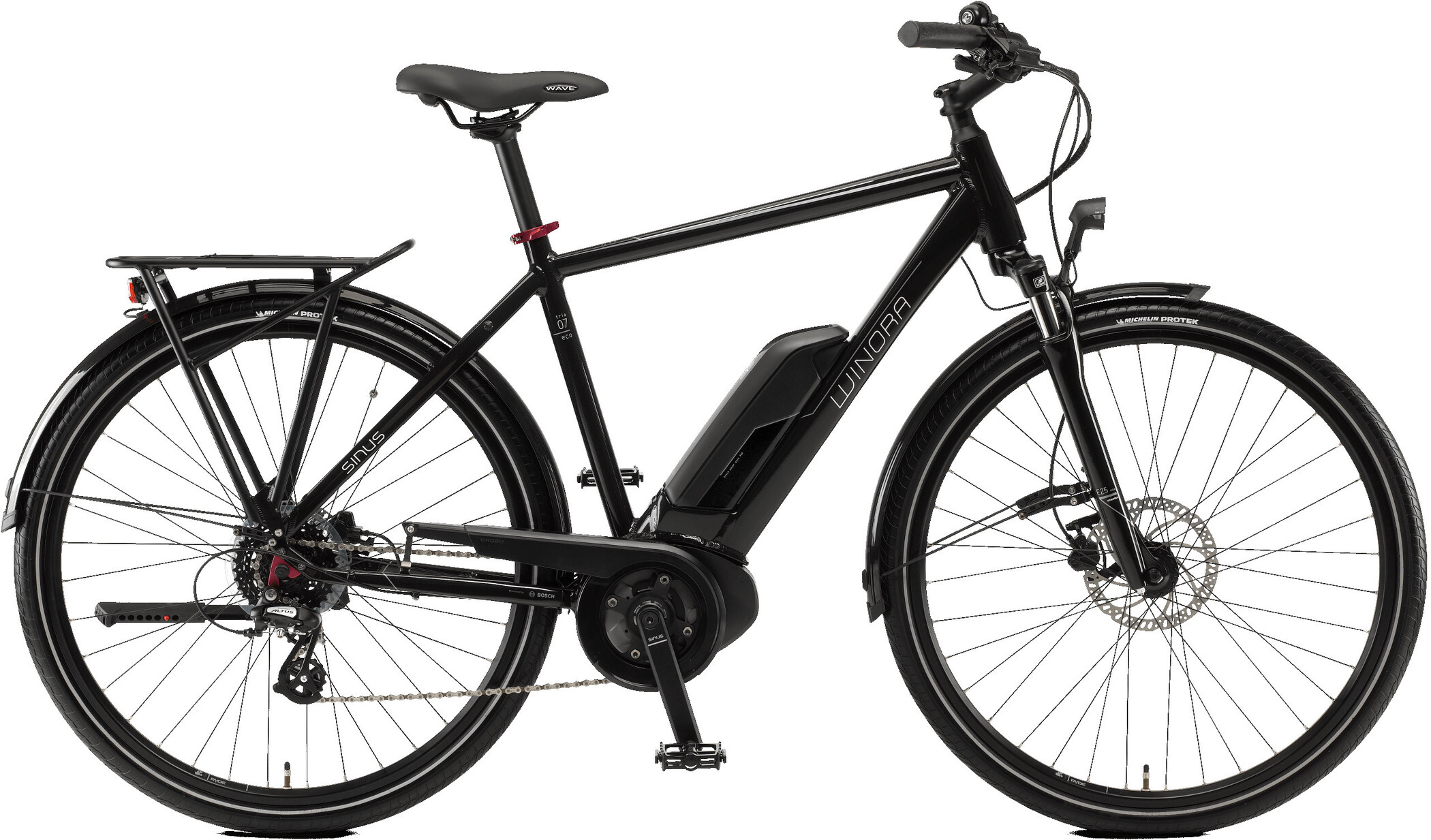 Winora Sinus Tria 7eco Herrer, black (2020)   City-cykler