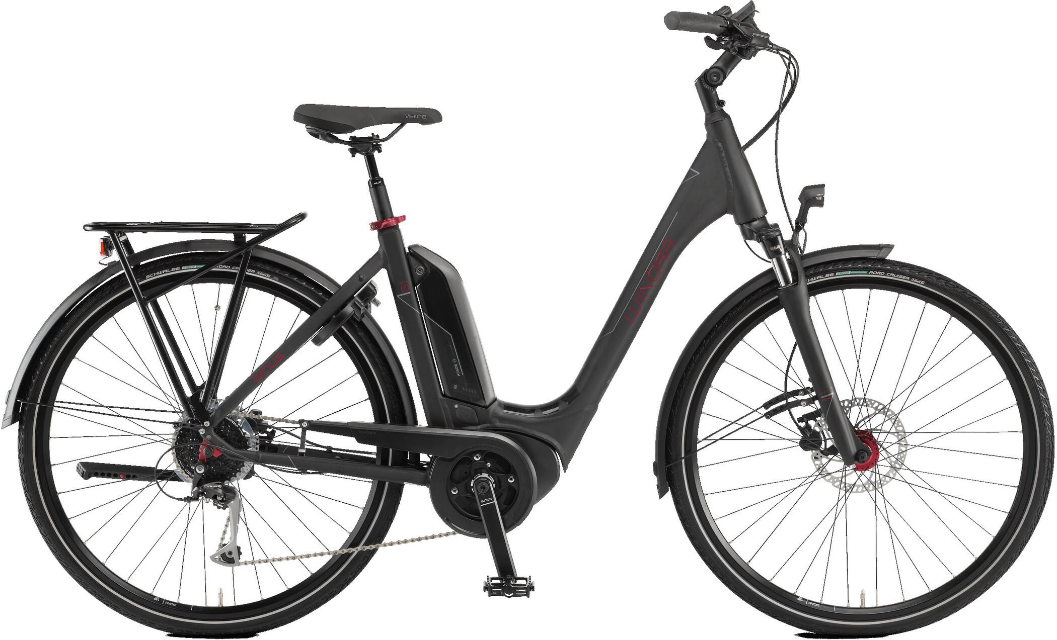 Winora Sinus Tria 9 Monotube, black matte (2020)   City-cykler