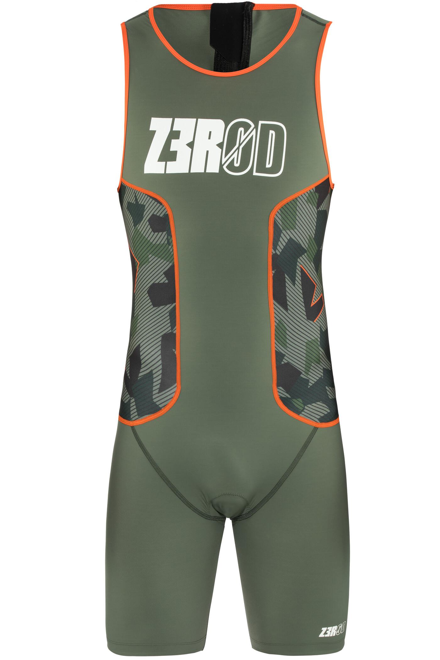 Z3R0D Racer Triatlondragt Herrer, camo | Svømmetøj og udstyr