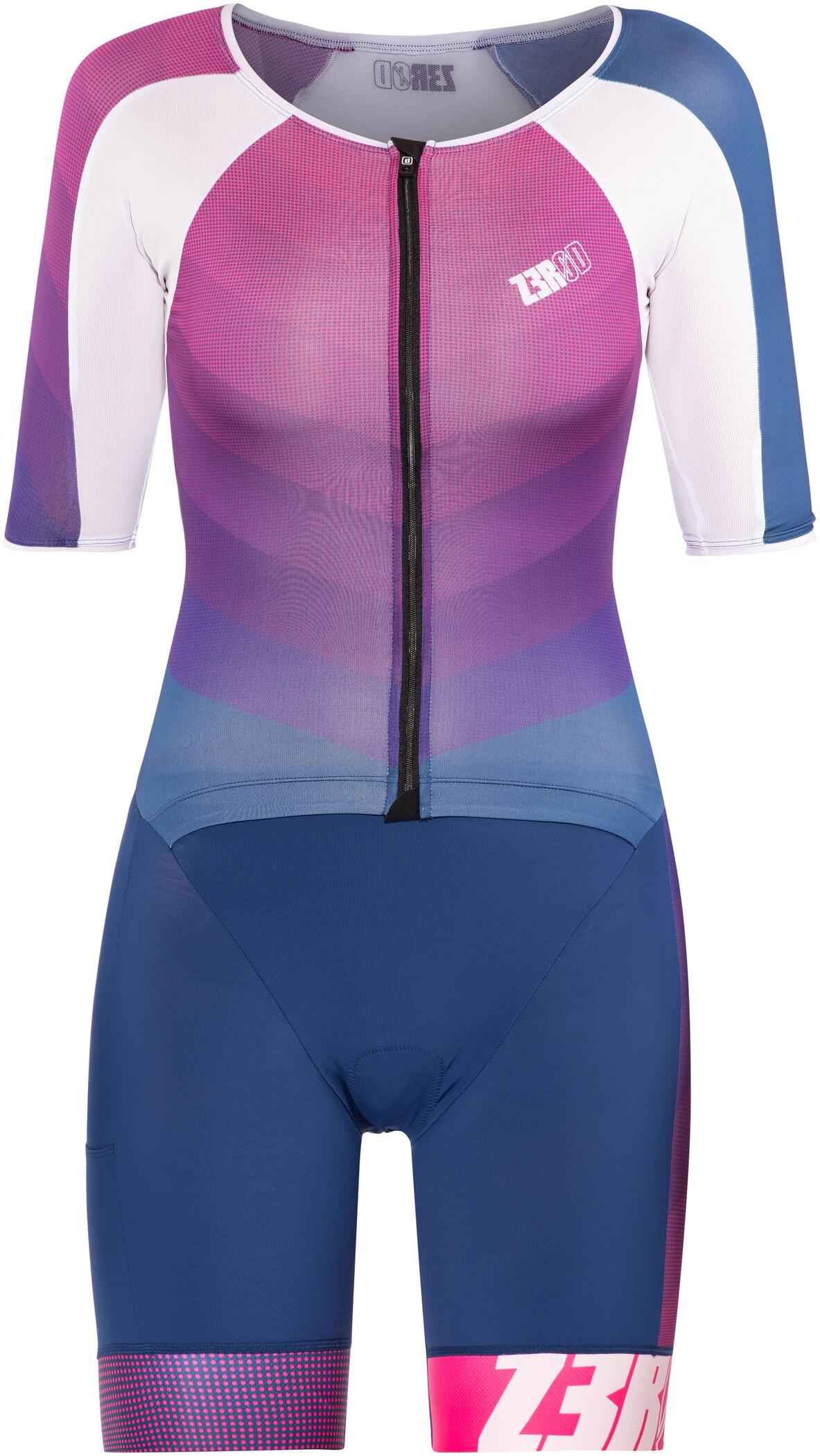 Z3R0D Racer Time Trial Triatlondragt Damer, dark blue/pink | Svømmetøj og udstyr