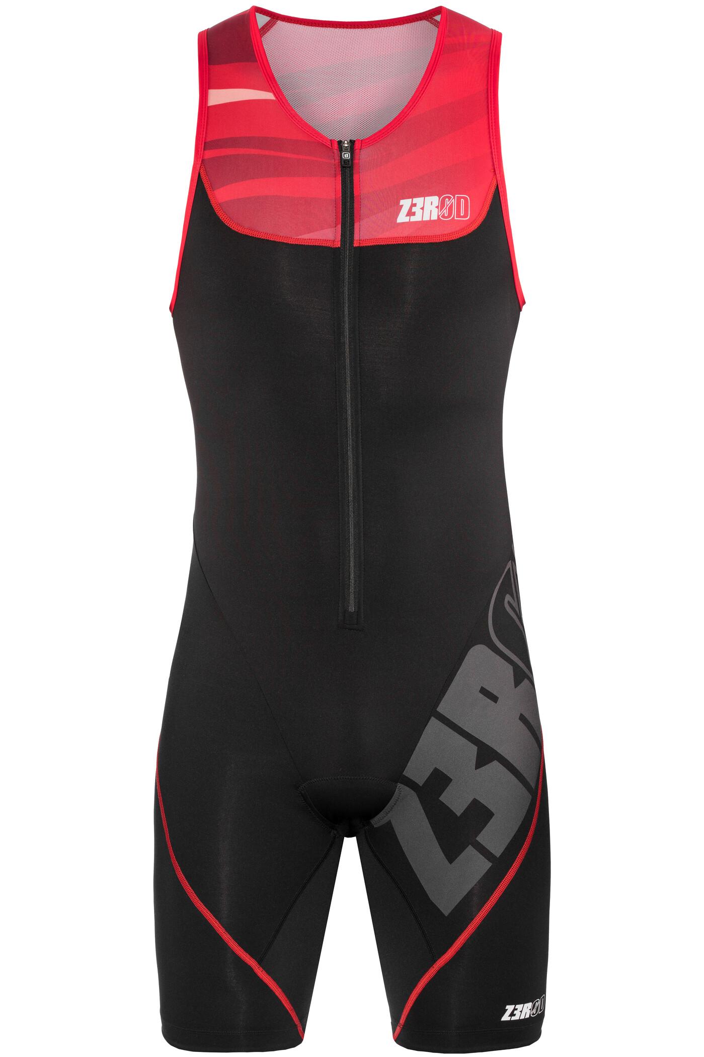 Z3R0D Start Triatlondragt Herrer, armada black/red | Svømmetøj og udstyr