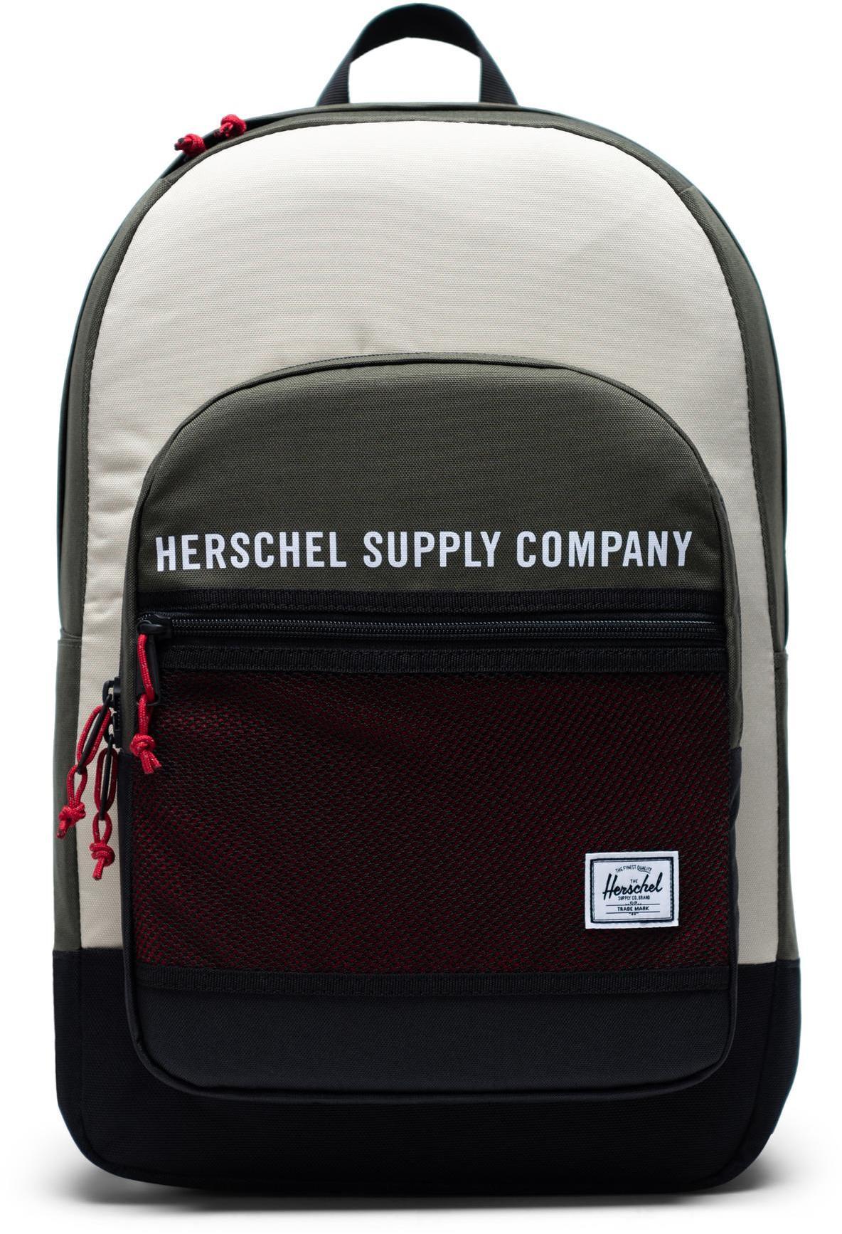 Herschel Kaine Backpack 30l, dark olive/overcast/black/red (2019)   Rygsæk og rejsetasker