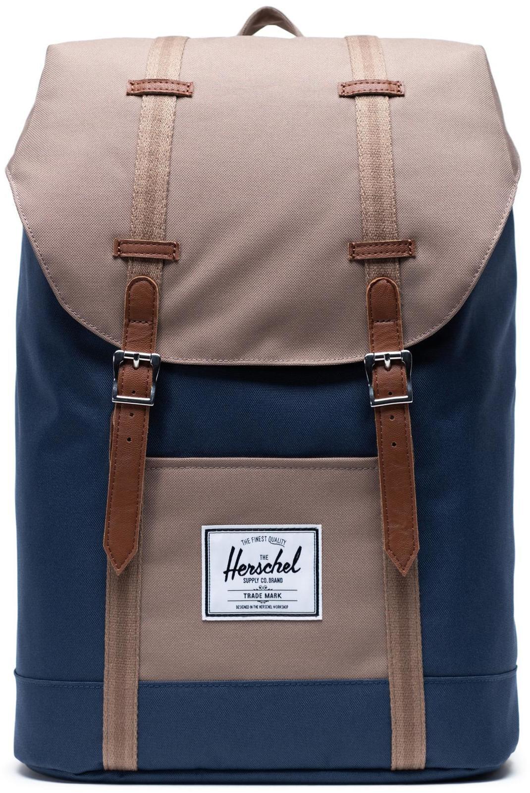 Herschel Retreat Backpack 19,5l, navy/pine bark/tan (2019)   Rygsæk og rejsetasker