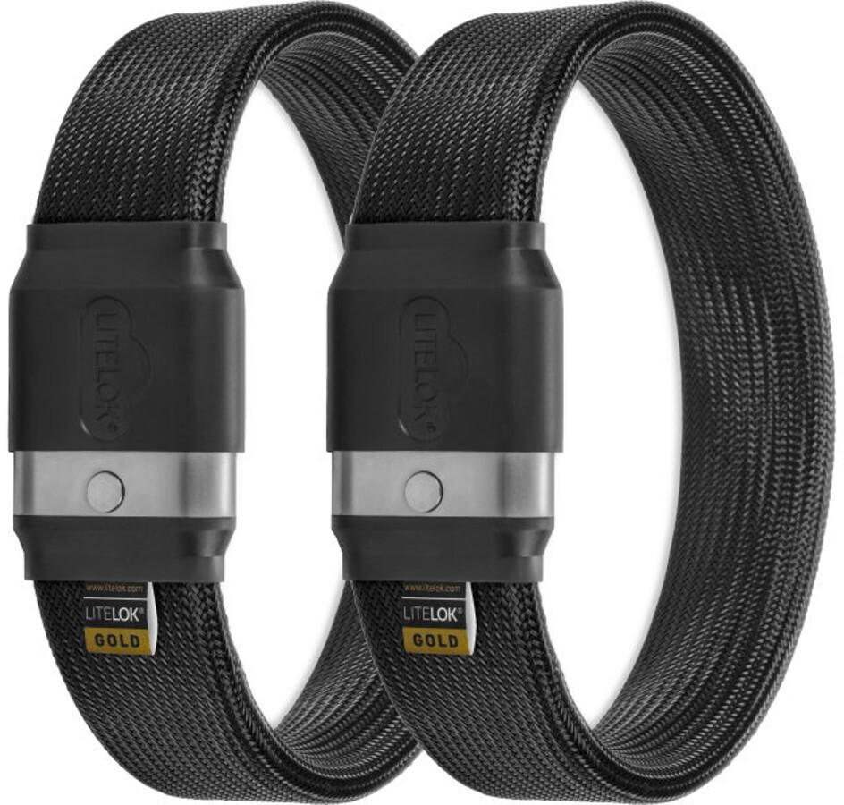 Litelok Twin Gold Cykellås, black (2019) | Combo Lock