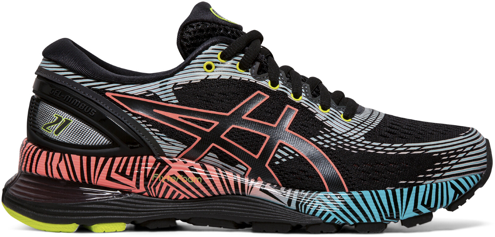 asics Gel-Nimbus 21 Lite-Show Sko Damer, black/sun coral | Running shoes