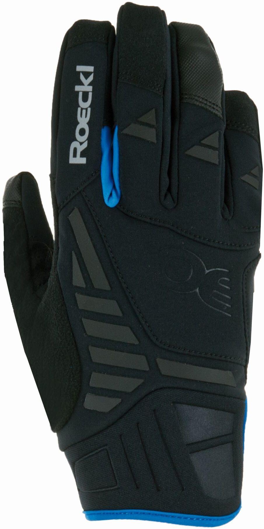 Roeckl Reintal Cykelhandsker, black/blue (2019) | Gloves