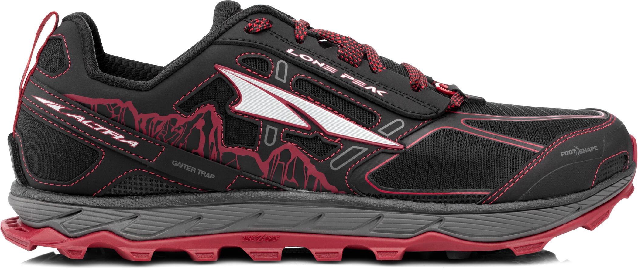 Altra Lone Peak 4 Løbesko Herrer, black/red (2019) | Running shoes