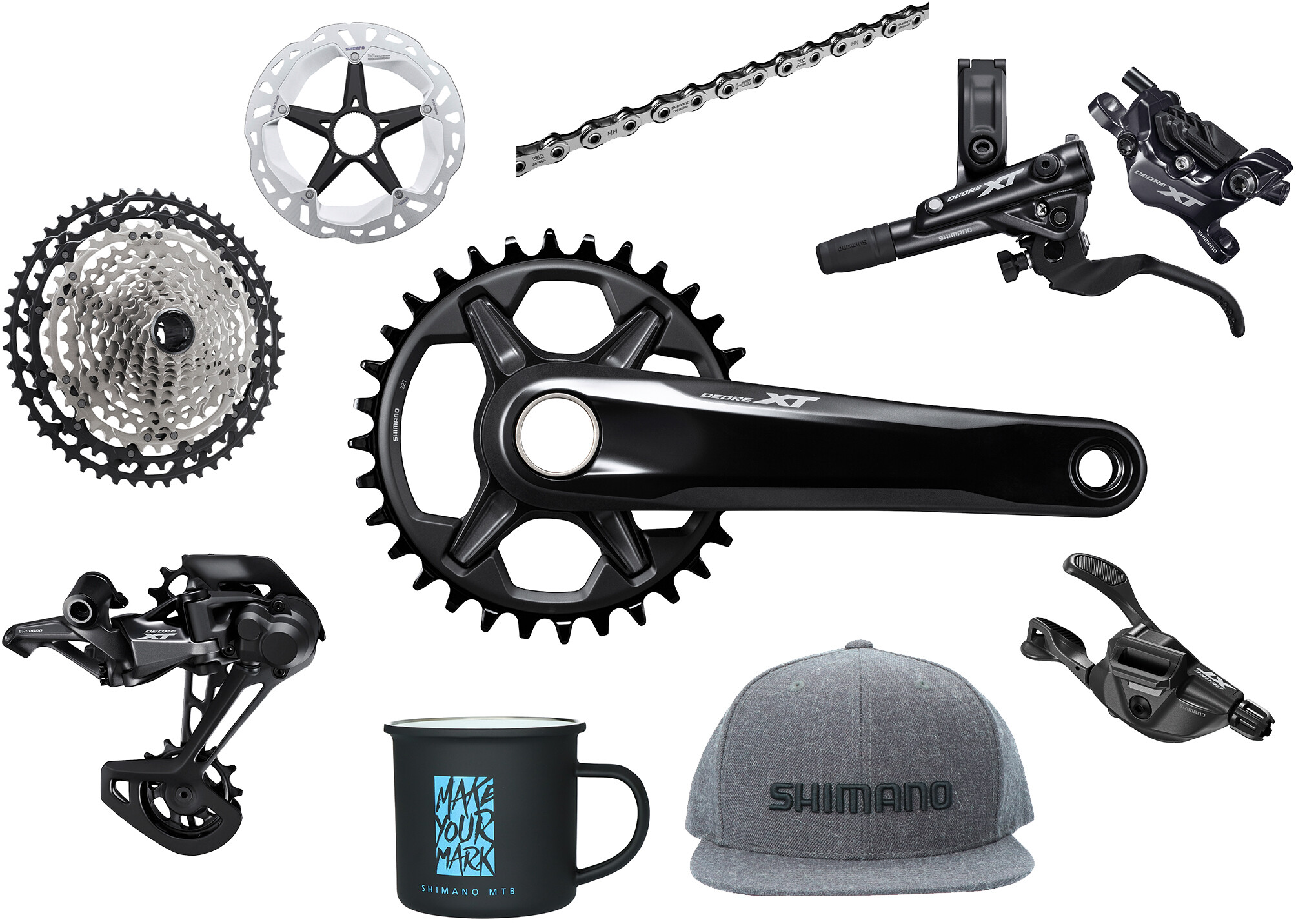 Shimano Deore XT M8100 Priority Pack w/o Hubs 1x12-speed, black/silver (2020) | Hubs