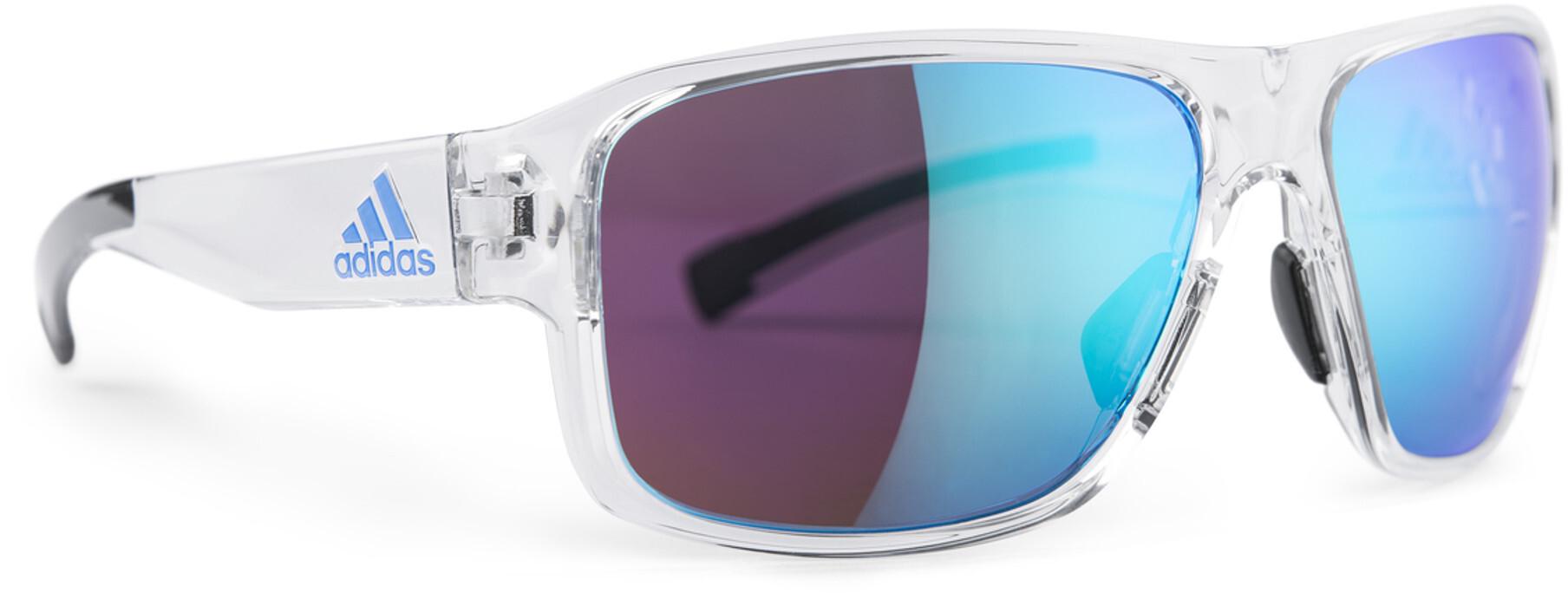 adidas Jaysor AD20 Solbriller, crystal shiny/shiny blue   Briller