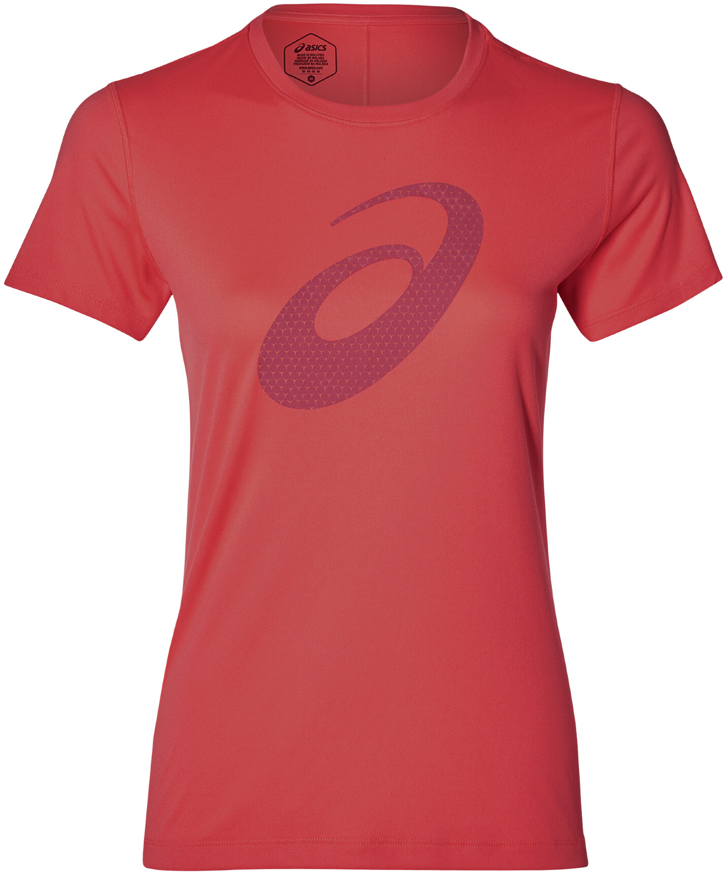 asics Silver Graphic SS Top Women, flash coral (2019) | item_misc