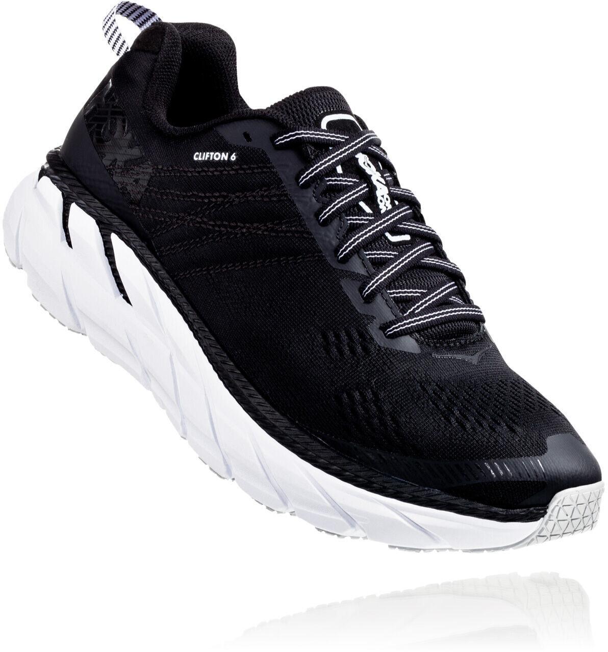 Hoka One One Clifton 6 Løbesko Herrer, black/white (2020) | Running shoes
