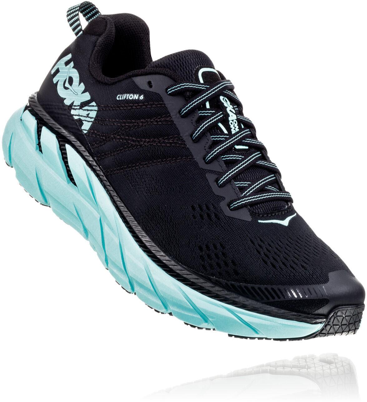 Hoka One One Clifton 6 Løbesko Damer, black/aqua sky (2019) | Running shoes