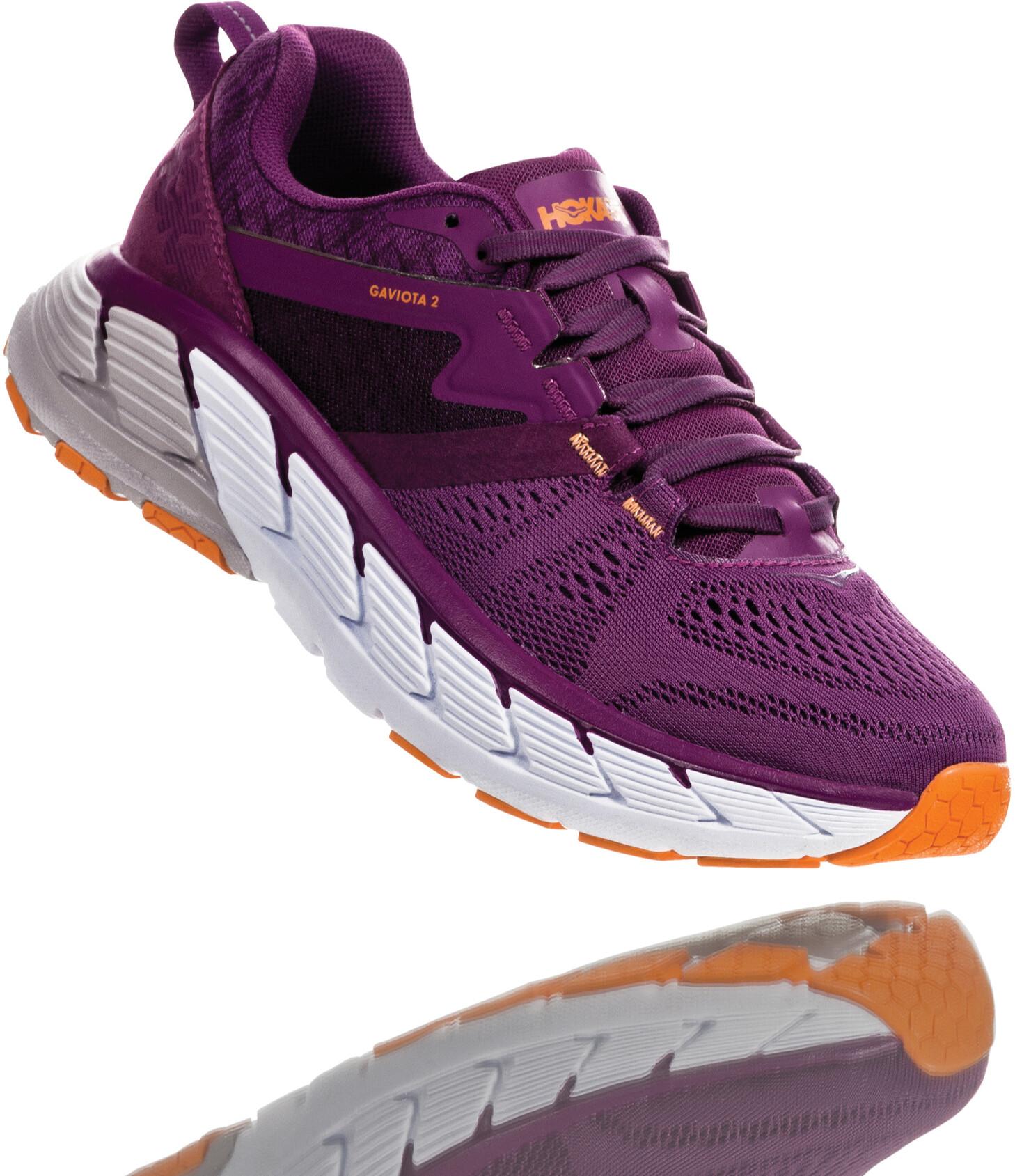 Hoka One One Gaviota 2 Løbesko Damer, grape juice/bright marigold (2020) | Running shoes