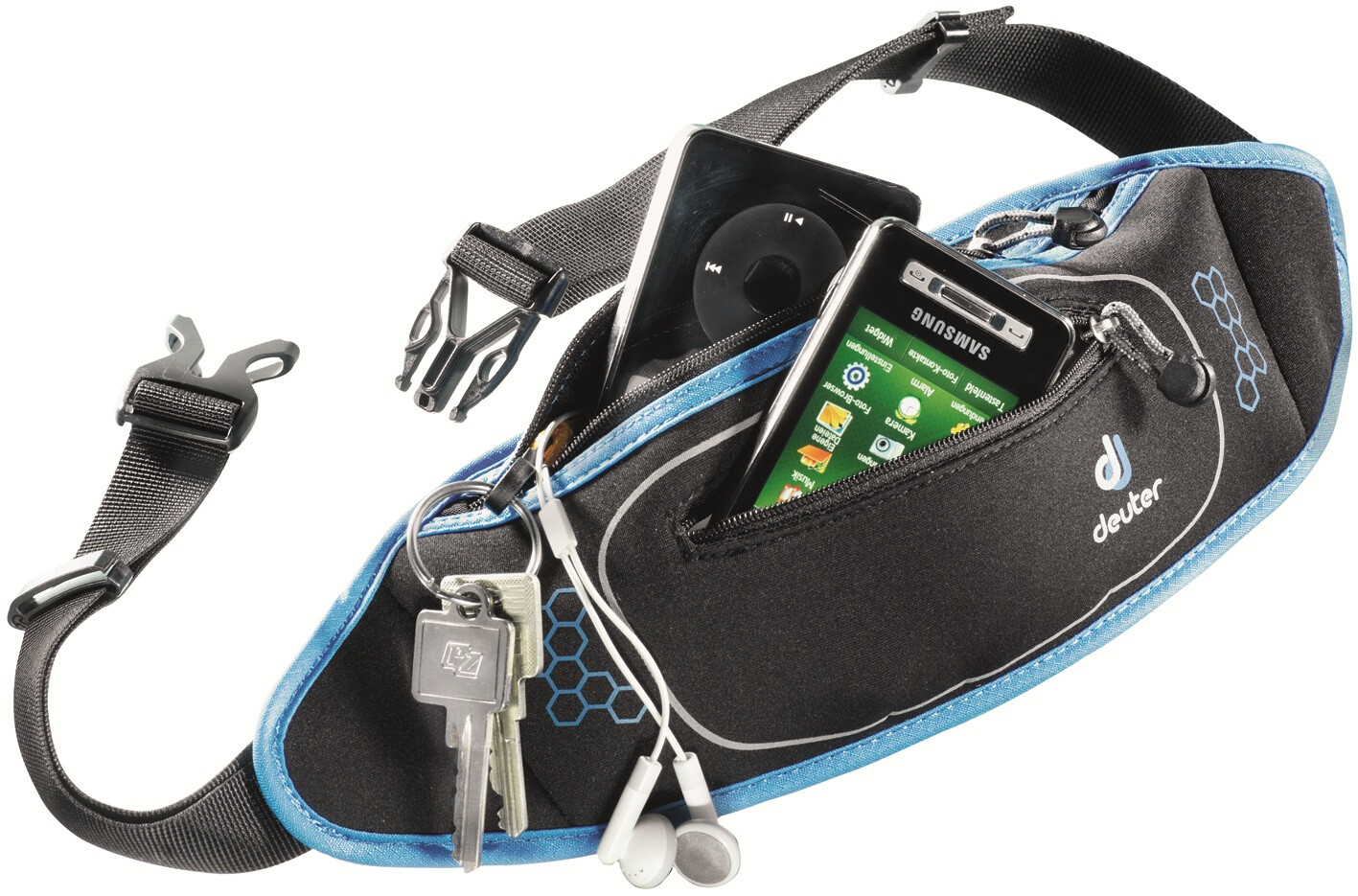 Deuter Neo Belt II Drikkebælte, black-coolblue | Waist bags