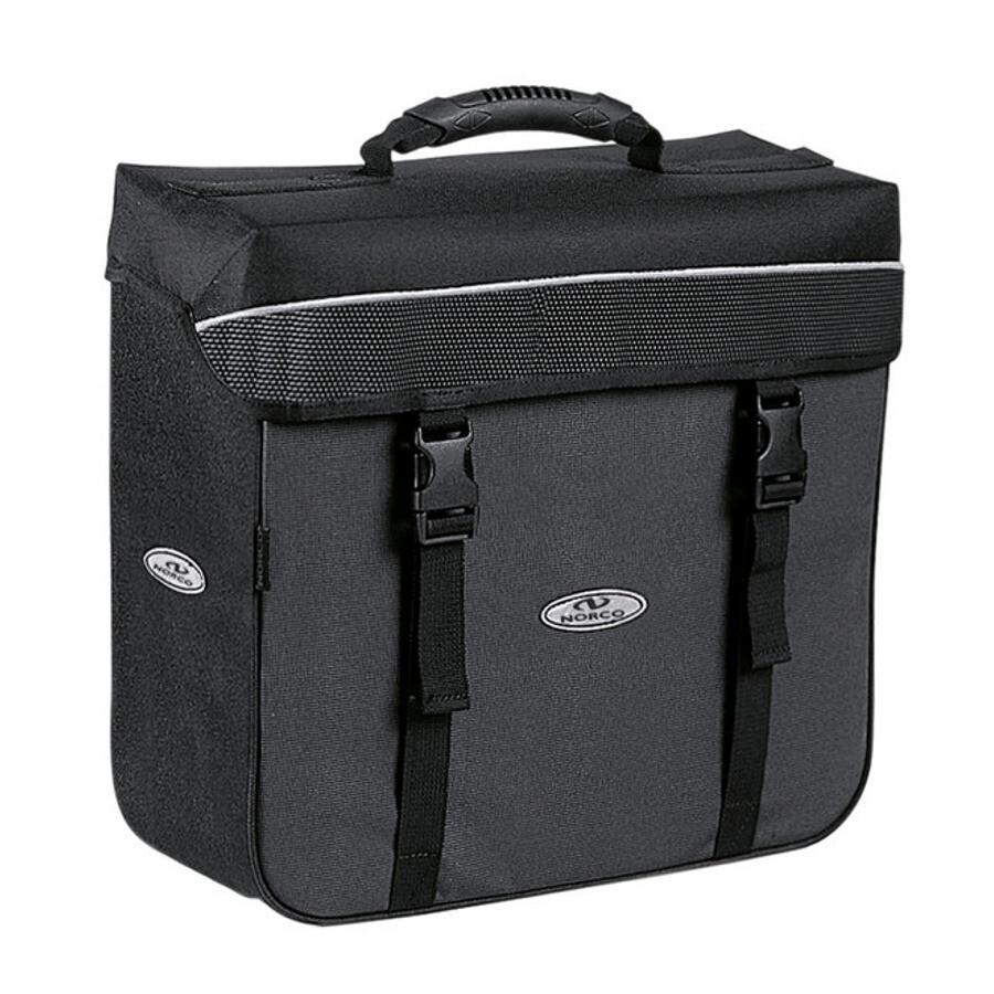 Norco Orlando City-Box Sidetasker, black/grey   Tasker til bagagebærer