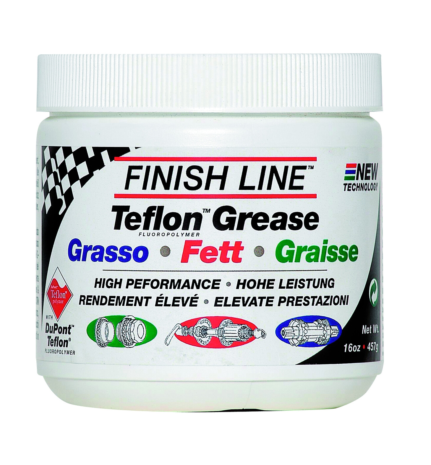 Finish Line Line PTFE grease 450 g dåse (2020) | polish_and_lubricant_component