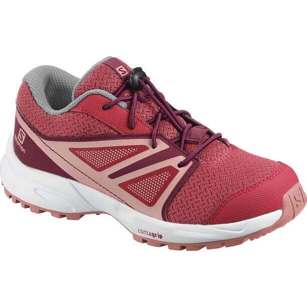 Salomon Sense Schuhe Kinder garnet rose/beet red/coral almond