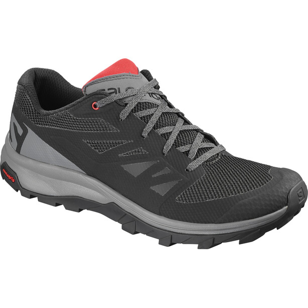 Salomon Outline Shoes Herr black/quiet shade/high risk red