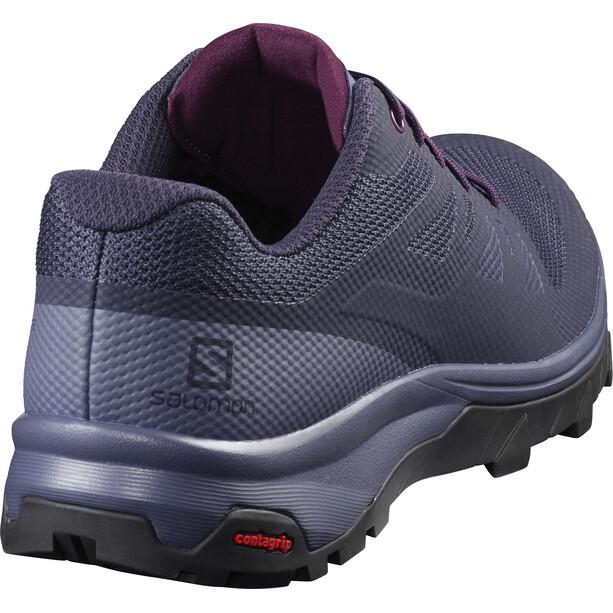 Salomon Outline Shoes Dam evening blue/crown blue/potent purple