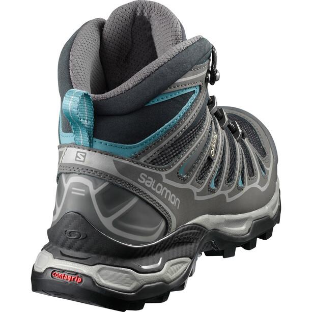Salomon X Ultra 2 Spikes GTX Mid Shoes Dam Black/Magnet/Hydro