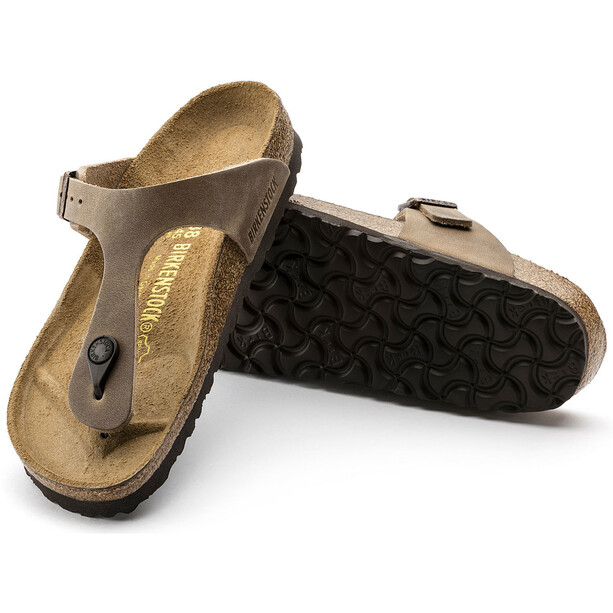 Birkenstock Gizeh Flips Geöltes Leder Normal tabacco brown