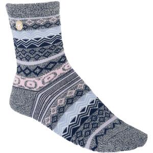Birkenstock Cotton Jacquard Socken Damen blau blau