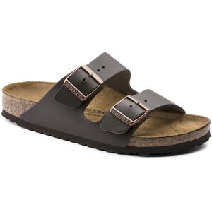 Birkenstock Arizona Sandals Smooth Leather Regular Dark Brown Dark Brown