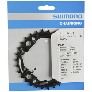 Shimano FC-M4000/M4050 Kettenblatt 9-fach black black