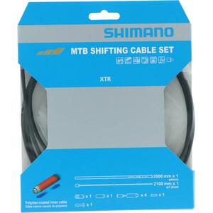 Shimano MTB XTR Shift Cable Set 2000mm svart svart
